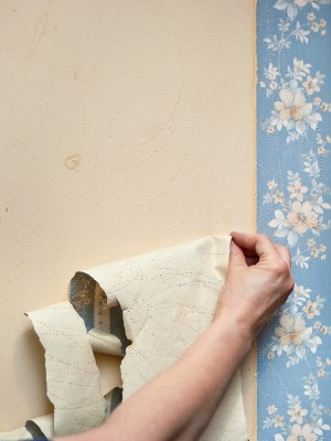 Wallpaper removal by Jo Co Painting LLC.